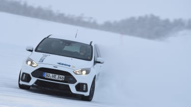 Winter testing in Arjeplog - Focus RS drift