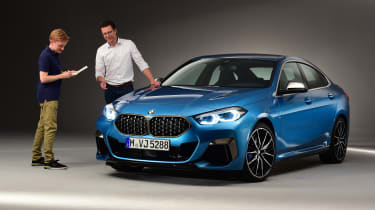 BMW 2 Series Gran Coupe - front 3/4 static studio with Brodie