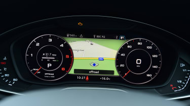 Audi Virtual Cockpit - half map