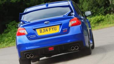 Subaru WRX STi 2014 - rear cornering