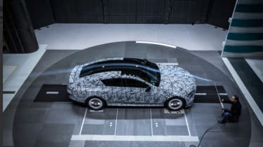 Mercedes-AMG GT four door wind tunnel side