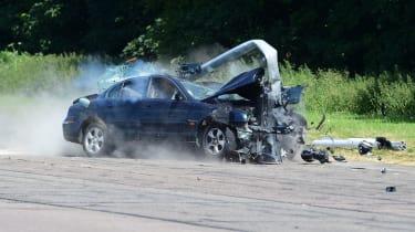 Car crash smashed