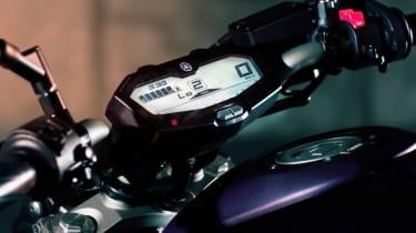 Yamaha MT-07 review - dash