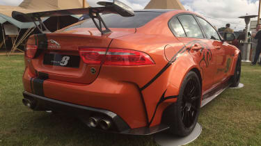 Jaguar XE SV Project 8 - red Goodwood rear