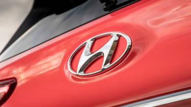 Hyundai Kona review - Hyundai badge