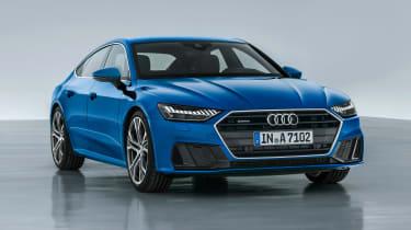 Audi A7 Sportback - front static blue