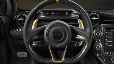 McLaren 720S Dubai steering wheel