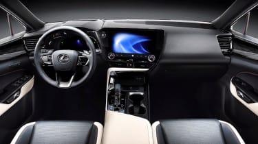 New Lexus NX leaked cabin