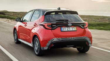 2020 Toyota Yaris - rear tracking