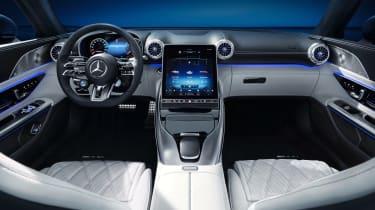 Mercedes SL interior - dash