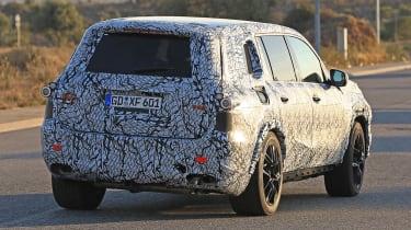 Mercedes GLS spy rear
