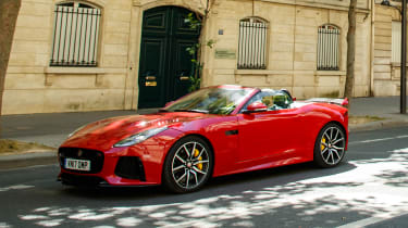 Jaguar F-Type SVR Convertible - side