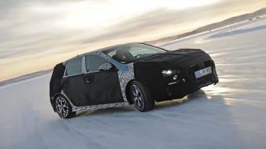 Hyundai i30N winter testing front quarter