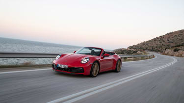 New Porsche 911 Cabriolet 2019 front tracking
