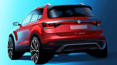 Volkswagen T-Cross teaser - rear