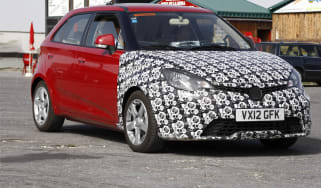 MG 3 spy shots front three-quarter