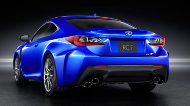 Lexus RC F rear angle