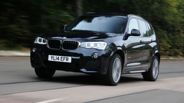 BMW X3 front driving