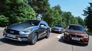 Infiniti Q30 vs BMW X1 vs Mercedes GLA