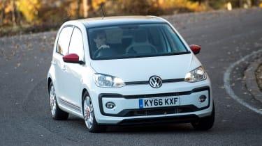 Volkswagen up! 1.0 TSI petrol - front cornering