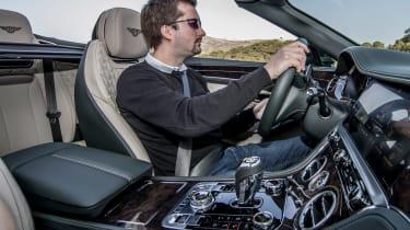 Bentley Continental GT Convertible - Antony Ingram driving