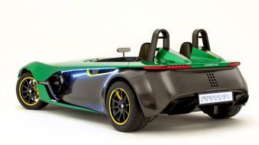 caterham aeroseven concept rear three quarter