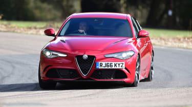Alfa Romeo Giulia Quadrifoglio - front cornering