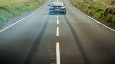 ford mustang bullitt rear burnout