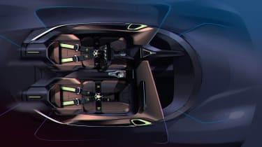 NextEV NIO EP9 electric hypercar - sketch interior