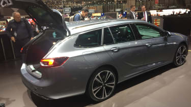 Vauxhall Insignia Sports Tourer Geneva - side boot open