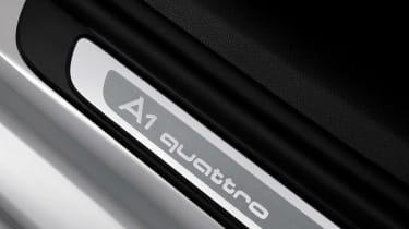 Audi A1 quattro badge detail