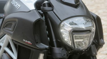 Ducati Diavel review - headlamp