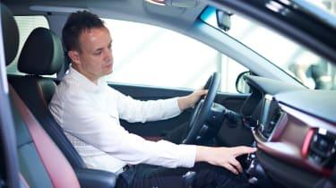 New Kia Rio - reveal event Graham interior