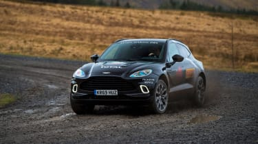 Aston Martin DBX prototype - front off-road