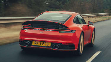 Porsche 911 Carrera S - rear tracking with spoiler up
