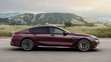 BMW M8 Gran Coupe - side action