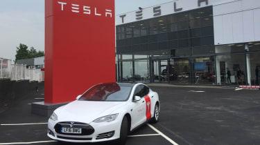 Tesla Model S repair - front