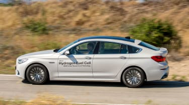BMW 5 Series GT Hydrogen Fuel Cell - side action