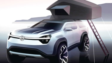 VW electric off-roader - front sketch