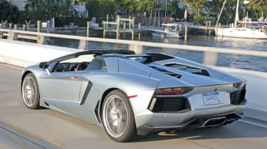 Lamborghini Aventador Roadster rear tracking