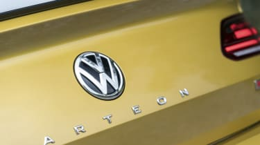 Volkswagen Arteon review - gold boot badge
