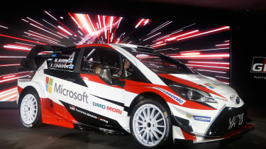 New Toyota Yaris WRC rally car - reveal front quarter 2