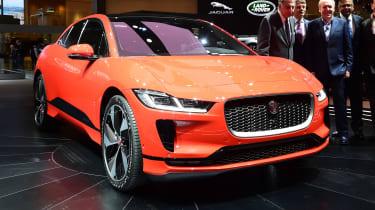 Jaguar I-Pace - Geneva front red
