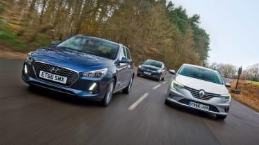 Hyundai i30 vs Renault Megane vs Vauxhall Astra - head-to-head
