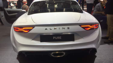 Alpine A110 rear white