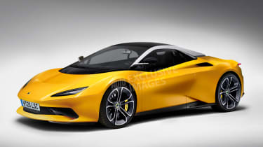 Lotus sports car - front (watermarked)