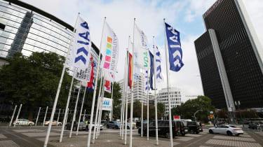2017 Frankfurt Motor Show - flags