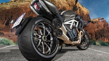 Ducati Diavel review - rear tyre