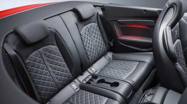 New Audi S5 Cabriolet 2017 rear seats