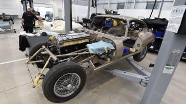 Jaguar E-Type restoration project